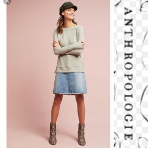 Anthropologie Jes Boatneck Top Waffle New XSmall